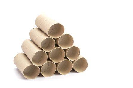 Usos Para Las Cosas Acumuladas En Tu Garaje Tubos de cartón vacíos
