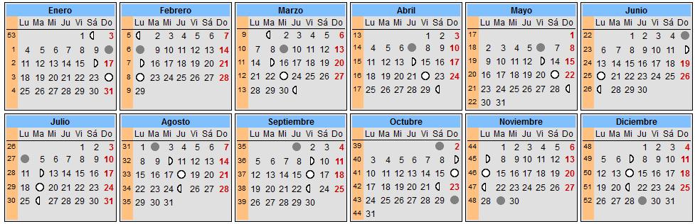 Solar Lunar 2014 And Calendar