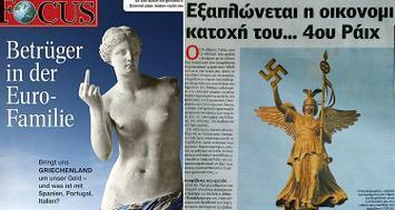 Los alemanes los llaman 'los impostores de la euro-familia'. Los griegos los acusan de hipócritas y de participar en su inmensa deuda desde 1945. Foto del blog cafebabel.es