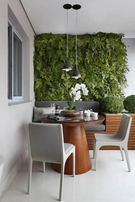 Jardines verticales en decoración de interiores