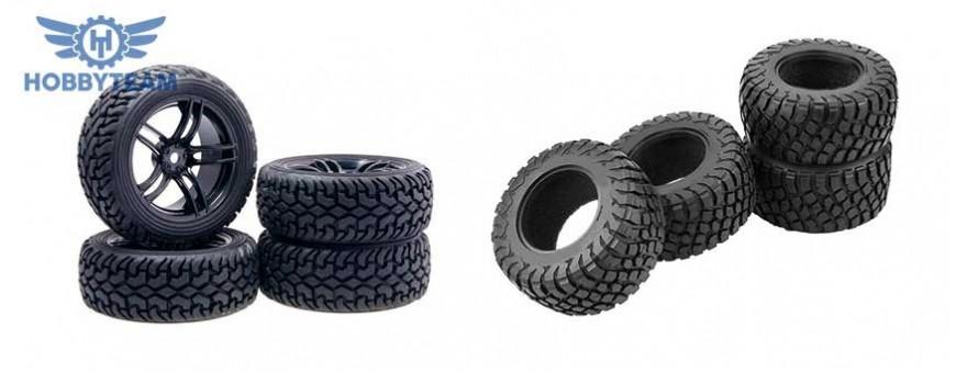 Cambiar los neumáticos de un coche RC con Hobbyteam.