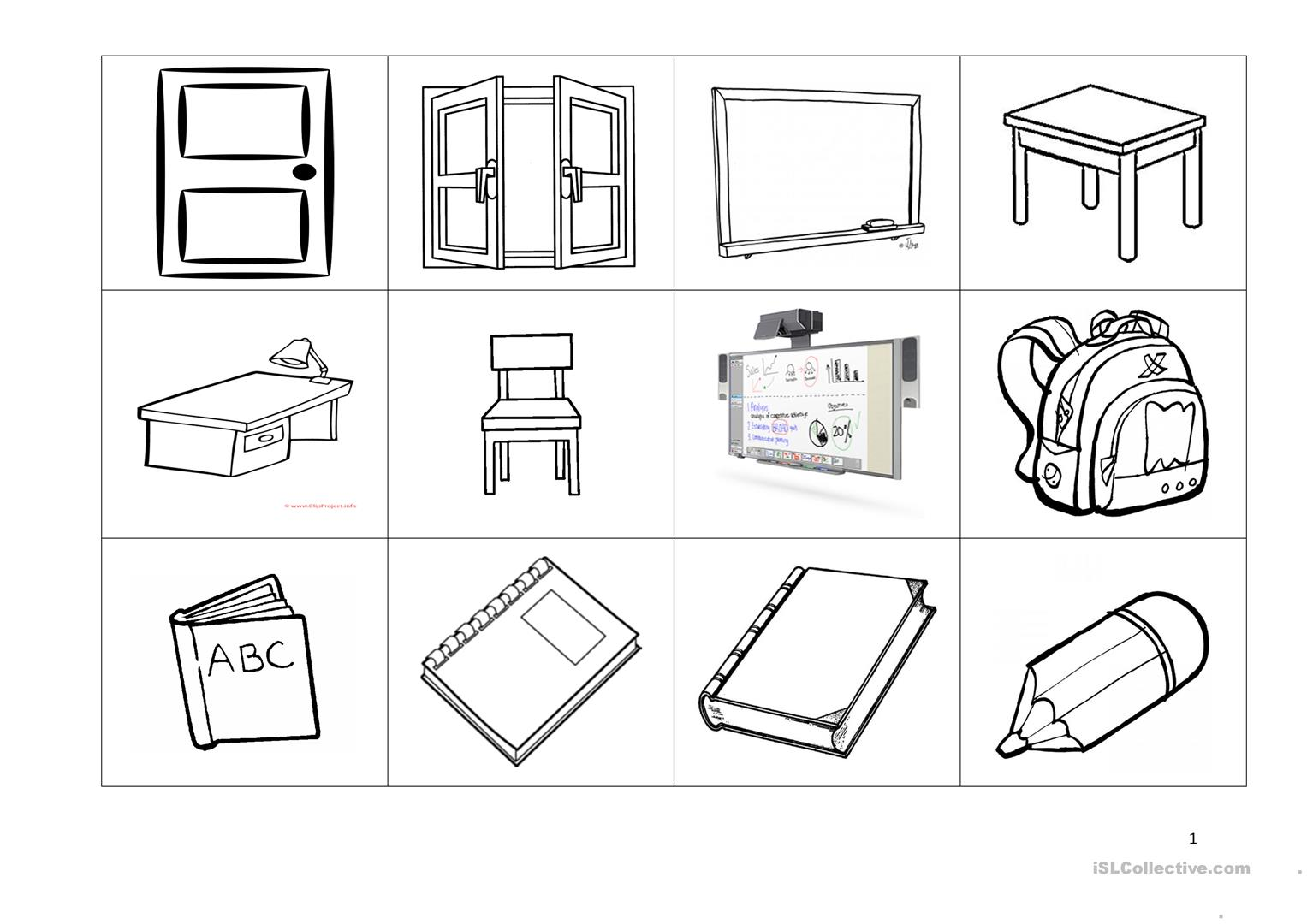 Picture Dictionary Worksheet Trabajos