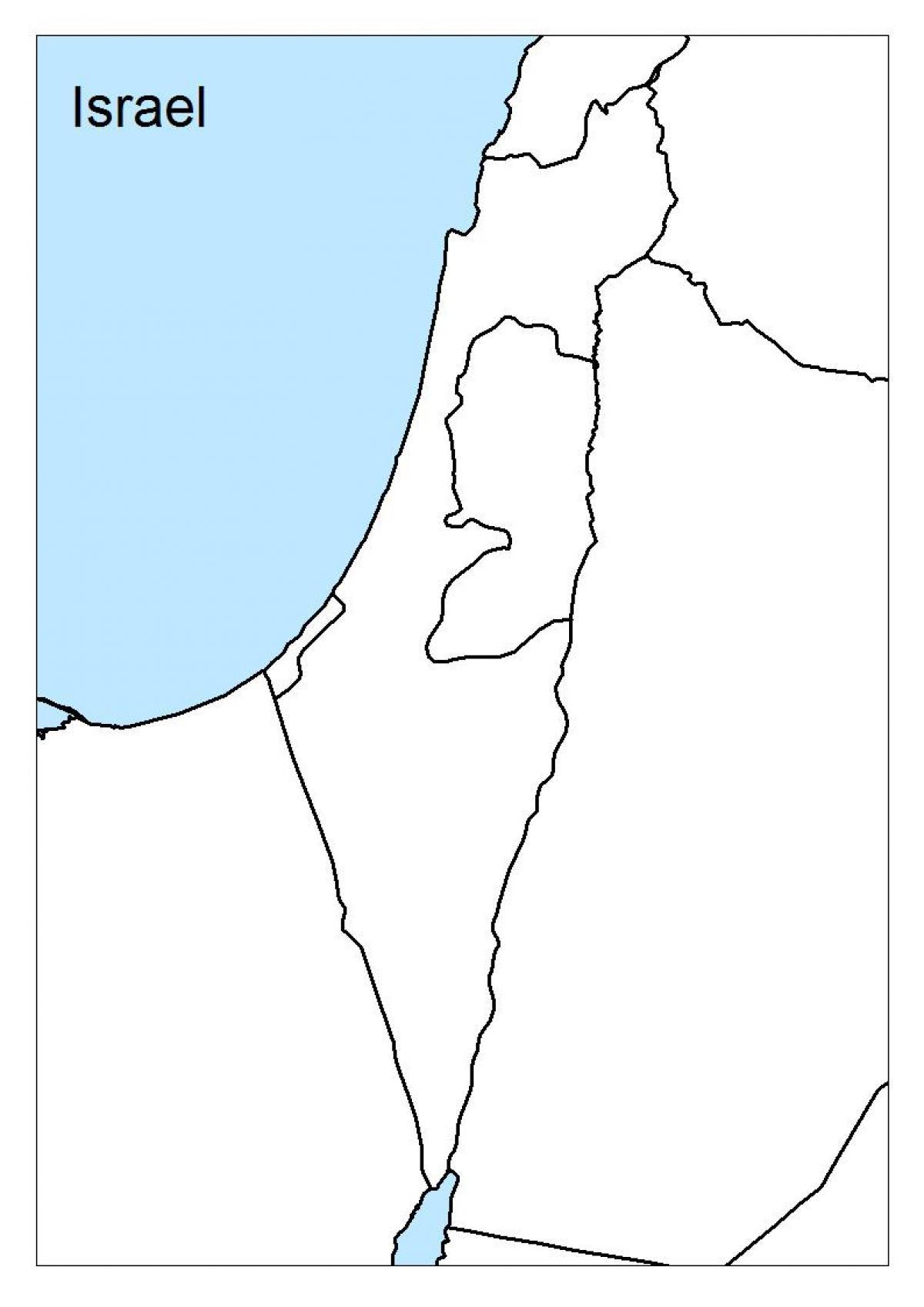 Israel En Blanco Del Mapa
