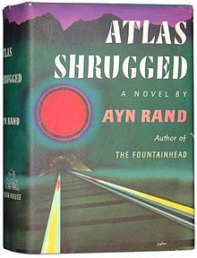 The first edition of Atlas Shrugged. (Wikimedia).