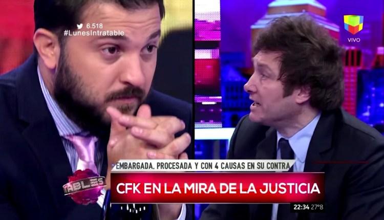 Javier-Milei-se-cruzó-con-Brancatelli-y-lo-acusó-de-beneficiarse-con-el-Kirchnerismo
