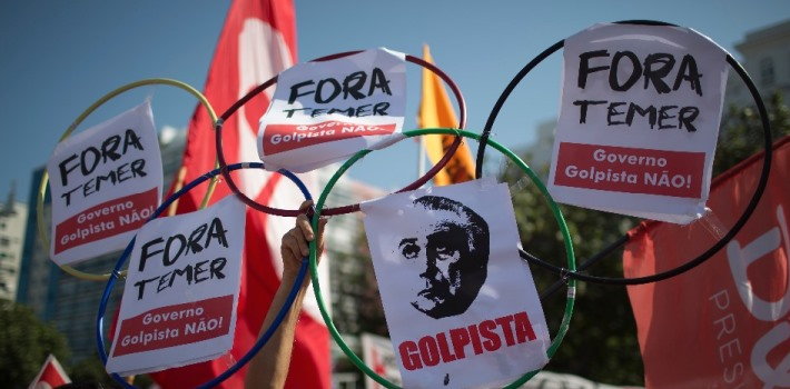 Temer – protestas Olímpicos