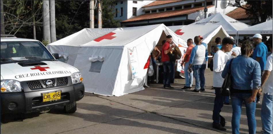 La Cruz Roja también presta ayuda desde la frontera colombo-venezolana (Twitter)