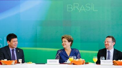 Brasília – DF, 22/12/2014. Presidenta Dilma Rousseff durante café da manhã com jornalistas-setoristas do Palácio do Planalto. Foto: Roberto Stuckert Filho/PR.