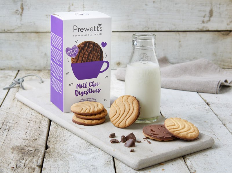 Galletas digestive con chocolate con leche