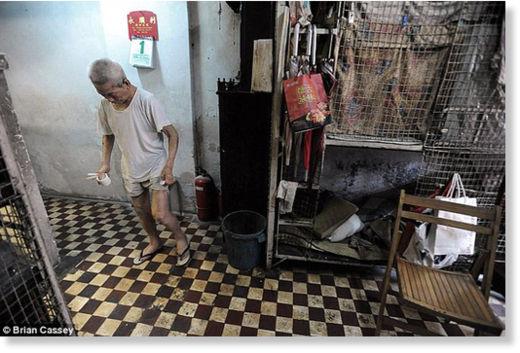 Hong Kong viven en jaulas6
