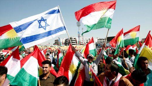 Manifestación en apoyo del referéndum en Erbil , Kurdistan iraquí. Fuente: HispanTV.