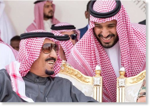 Saudi King Salman and crown prince Mohammed bin Salman