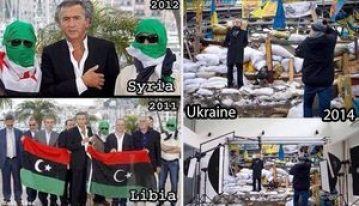 BHL and his like stage fake chaos in order to create real chaos