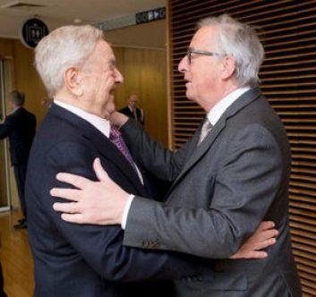 George Soros and EU President Jean Claude Juncker