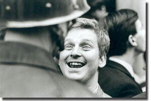 Cohn-Bendit durante una manifestación (París, 1968)