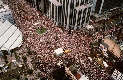 Durante la Marcha Blanca, 600.000 belgas protestaron contra la pedofilia organizada que afectó (y sigue afectando) a Bélgica.