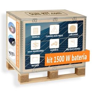 4 paneles y batería para tejado