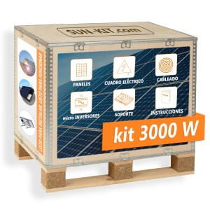 8 paneles sin batería para suelo micro-inversores