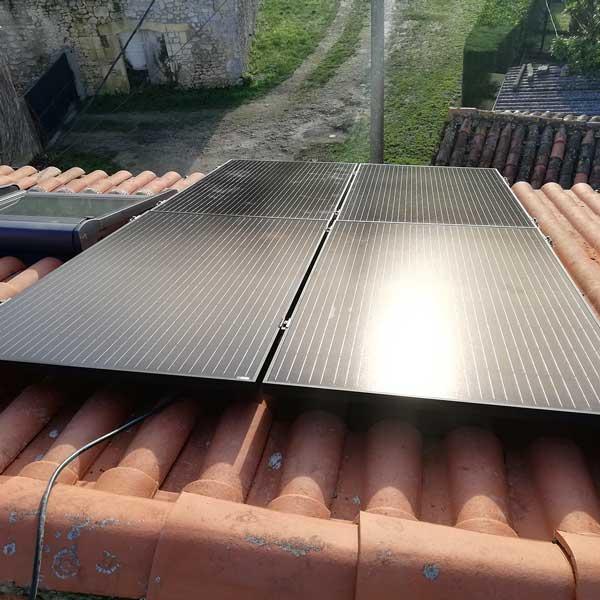 kit solar 4 paneles sobre teja