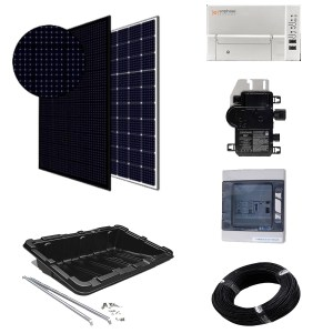 Paneles sin batería - kit micro-inversores para superficie horizontal