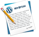 Escritura, iconos, Wordpress, post