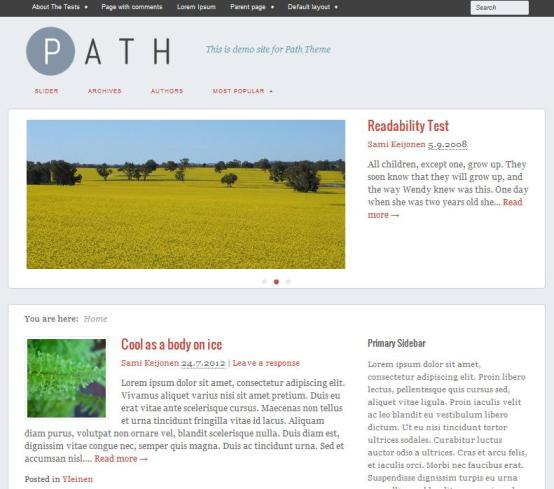 path theme