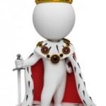 Exclusividad, rey, caricatura, icono, majestad