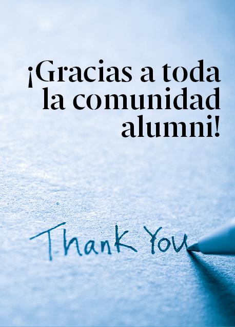 ¡Gracias a todos los alumni por estar ahí y dar sentido a esta comunidad!