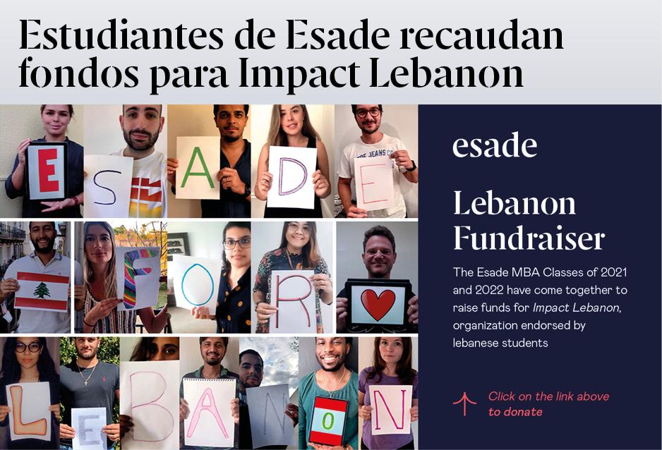 Estudiantes de Esade recaudan fondos para el Líbano