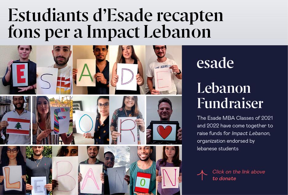 Estudiants d'Esade recapten fons per al Líban