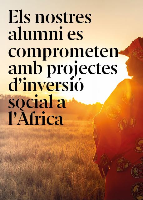 El nostres alumni participen en projectes d'inversió social a Àfrica