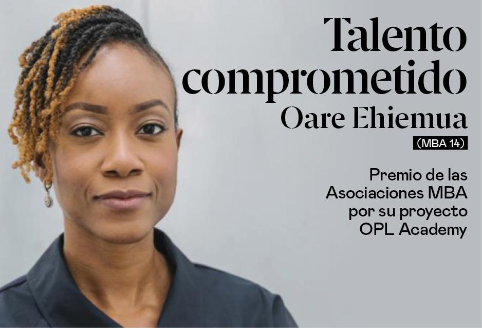 Oare Ehiemua (MBA 14), premio de las Asociaciones MBA por su proyecto OPL Academy