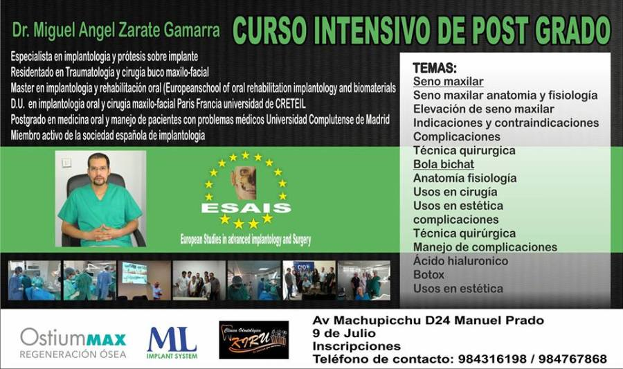 curso intensivo post grado julio 2016