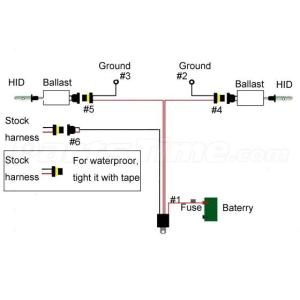 1x Xenon HID Conevrsion Kit Relay Wiring Harness 9005 9006