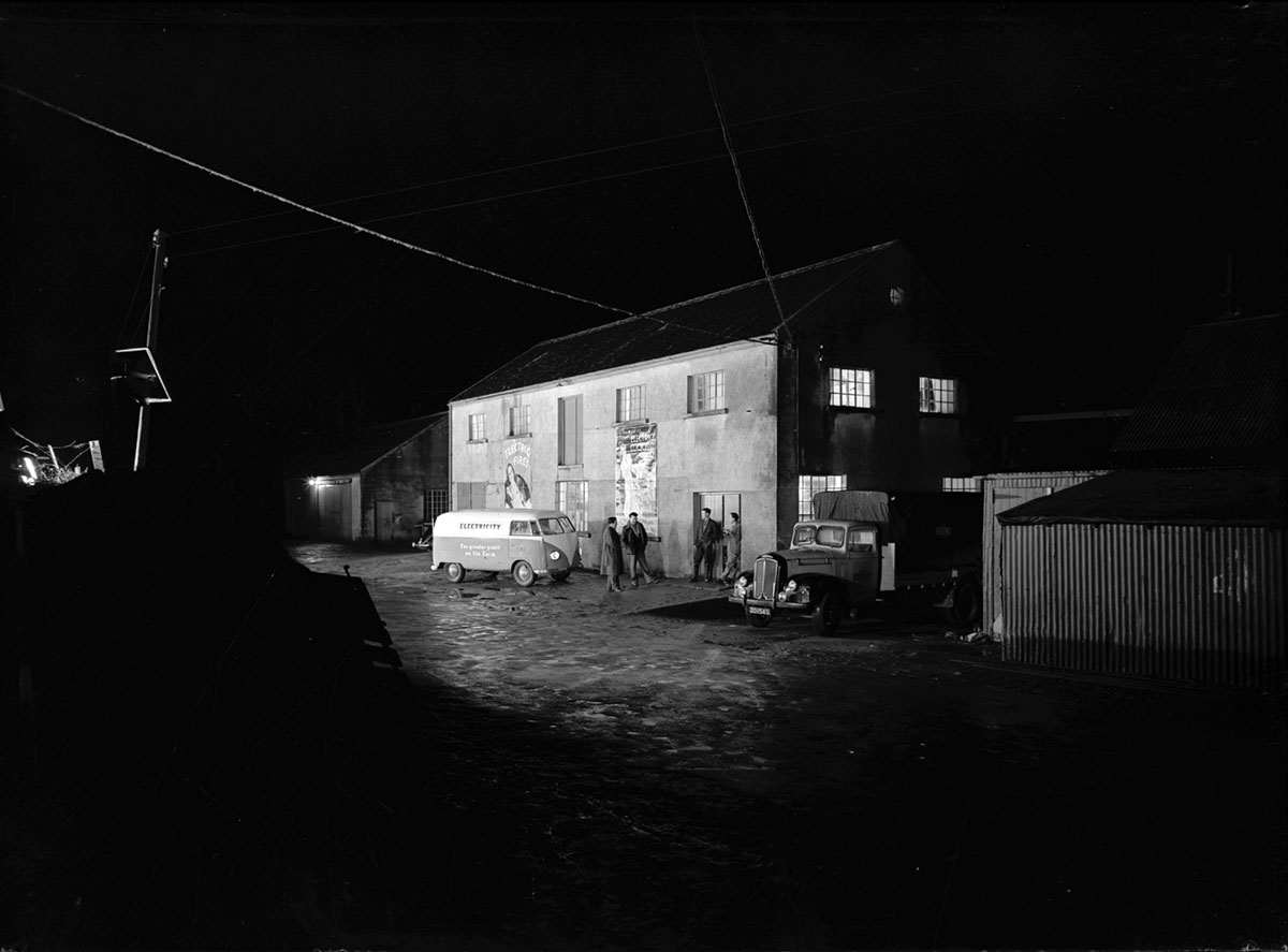 Lights on in the 100,000th premises connected, 1954