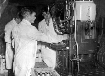 At work in the mineral water factory Kilmessan December 1949