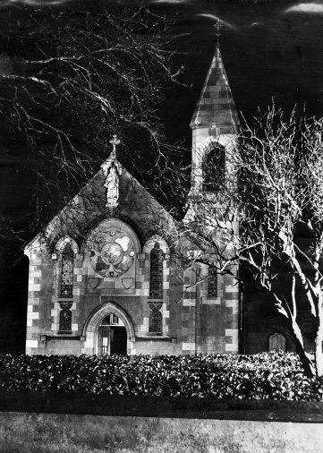 Floodlit Kilmessan Church December 1949