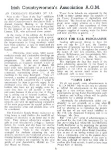 Irish Countrywomen's Association A.G.M. REO News May 1961