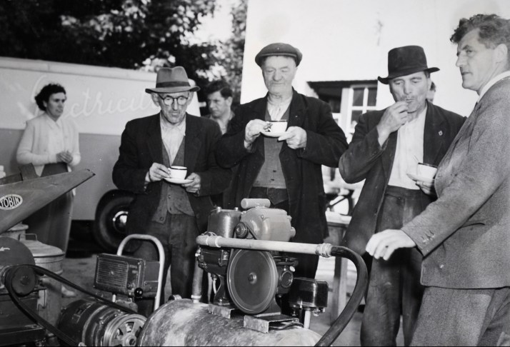 An early morning creamery demonstration, and a breakfast of tea and sausages served by the AO