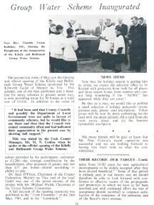 Muintir na Tire Group Water Scheme Kilally and Ballinarush. ESB internal publication, REO News July 1961