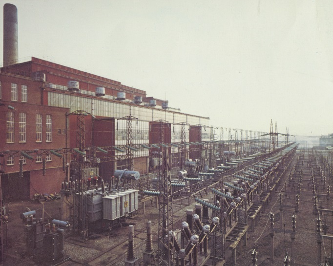 110kV compound at Ringsend, c1980s