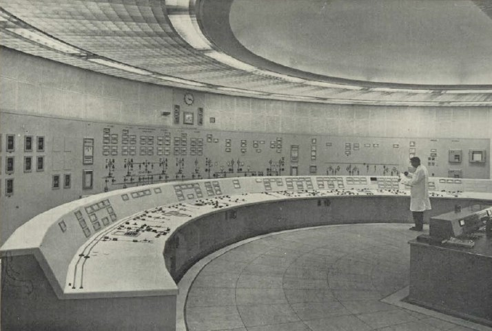 Ringsend control room, c1960s