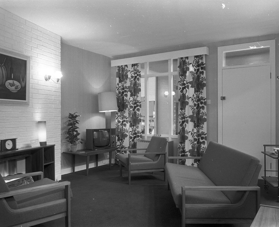 RDS home exhibit, sitting room, 1960s