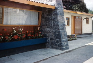 RDS model home, exterior, 1960s