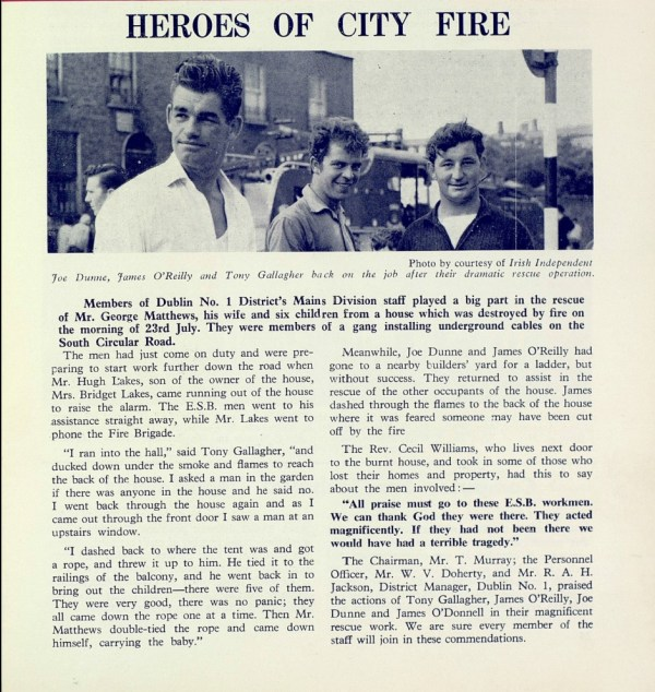 ESB Heroes - Fire Rescue - ESB Journal August 1964 p 24