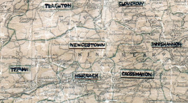 Newcestown-Map-cork