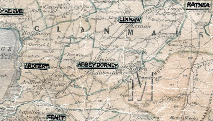 Abbeydorney-Map-tralee