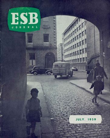ESB Journal, July 1959. Photo: rear of Head Office building, taken by F J Brandt, Public Relations Department.