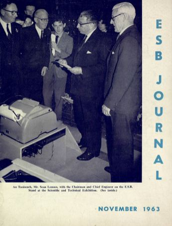 Taoiseach Sean Lemass visits the ESB stand at the RDS, ESB Journal, 1963