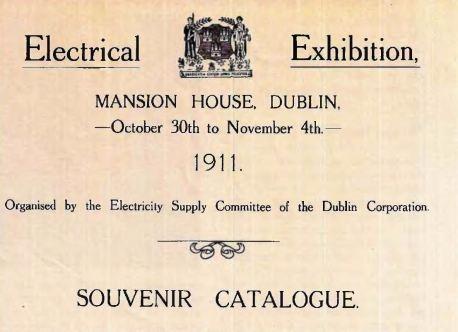 Cover of Dublin Corporation Catalogue, 1911
